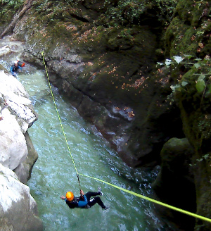 furon canyoning tyrolienne Vercors