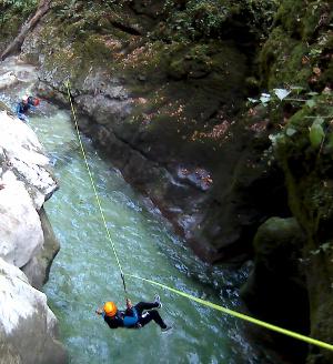 furon canyon tyrollienne vercors