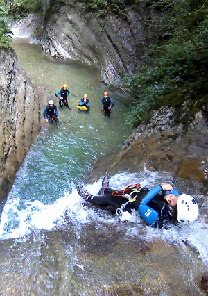 canyoning aux ecouges Vercors isere